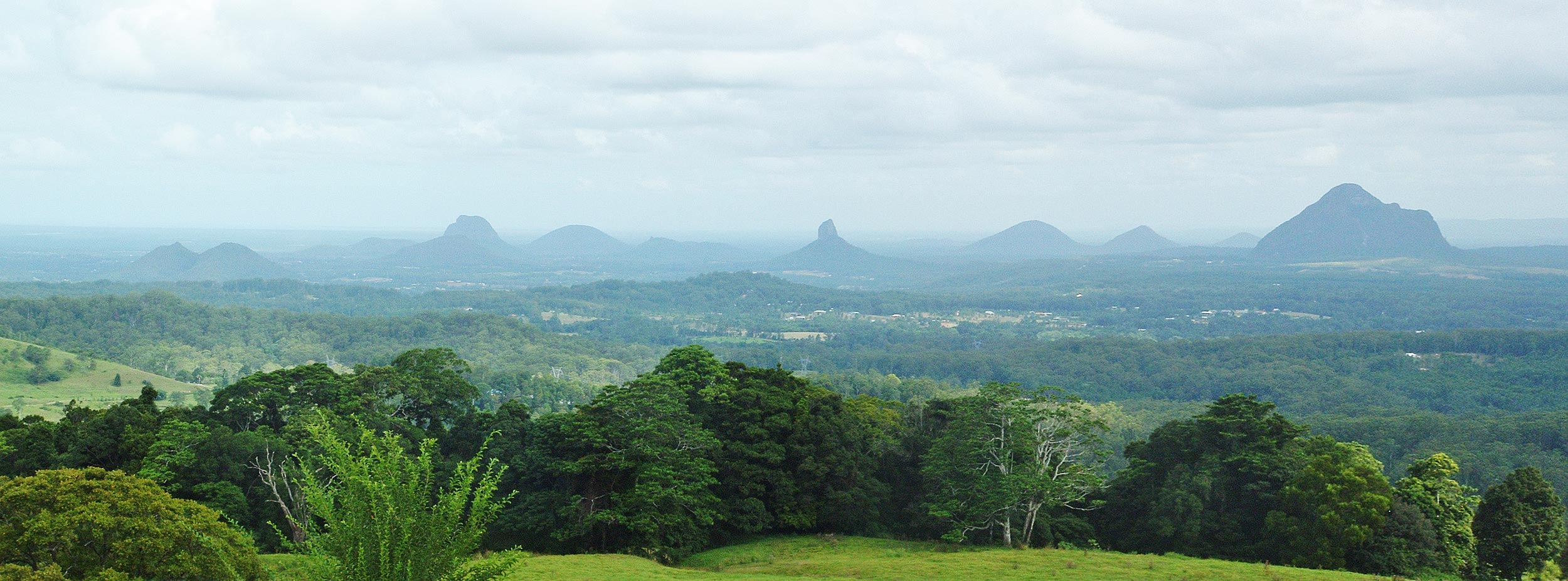 How Were The Glass House Mountains Formed?